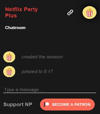 Netflix party Plus Features